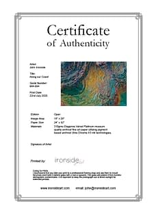 Ironside Art Certificate of Authenticity
